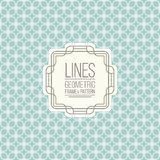 Set of line pattern and linear frame Royalty Free Stock Images