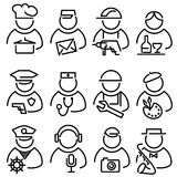 Set line peoples icons Royalty Free Stock Photography