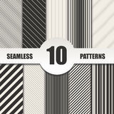 Set line seamless patterns.Vector background Stock Photo