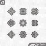 Set of  Line thai art design Stock Photo