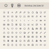 Set of Line Universal Icon Royalty Free Stock Image