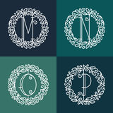 Set of line vector monograms vector illustration