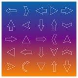 Set of linear arrow, vector illustration. Stock Image