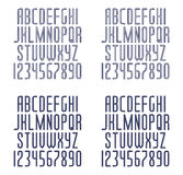 Set of linear fonts Royalty Free Stock Image