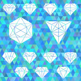 The set of linear geometric shapes. Hexagons, triangles, crystal. S, design elements.Fashion icon ,logo, logos. Vector illustration of triangle mosaic background Royalty Free Stock Images