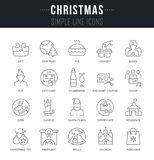 Set Vector Line Icons of Christmas. vector illustration