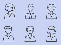 Set Linear icons man, people, user. Vector illustration. Royalty Free Stock Photos