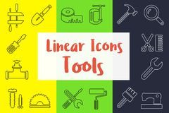 Set of linear icons vector illustration