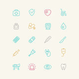 Linear medical icons. Stock Images