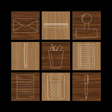 Set of linear icons Stock Photo