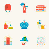 Set of linear London icons. Royalty Free Stock Photo