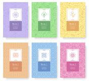 Set of linear pastel style concept. Outline element on poster, book, layout abstract, magazines, brochure. Vector flower vector illustration