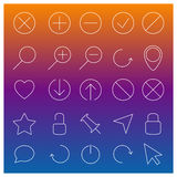 Set of linear Web icons, vector illustration. Stock Photography