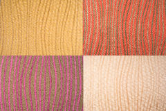 Set of lined backgrounds. Abstract textured wallpapers Stock Images