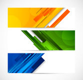 Set of lined banners Royalty Free Stock Images