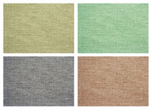Set of Linen canvas texture Stock Images