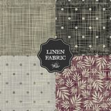 Set of for linen fabric Stock Image