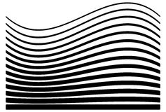 Set of lines with different level of deformation. Abstract geometric illustration. Royalty free vector illustration royalty free illustration