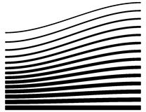 Set of lines with different level of deformation. Abstract geome. Tric illustration. - Royalty free vector illustration Royalty Free Stock Photography