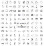 Set of lines of icons Royalty Free Stock Photos
