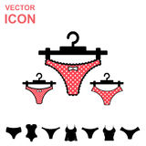 Set of Lingerie Vector Icon on White Background Royalty Free Stock Images