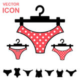 Set of Lingerie Vector Icon on White Background Stock Images