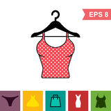 Set of Lingerie Vector Icon on White Background. Modern Youth Underwear Clothes Stock Image