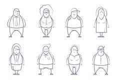 Set linie projektujący ludzie Obrazy Royalty Free