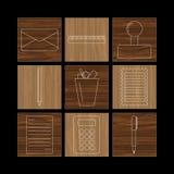 Set liniowe ikony Zdjęcie Stock