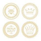 Set liniowe odznaki premii ilość i najlepszy wybór - royalty ilustracja