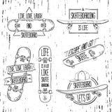 Set liniowi, nowożytni logowie, znaki, odznaki, etykietki Ilustracji