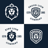 Set of Lion logo templates Royalty Free Stock Images
