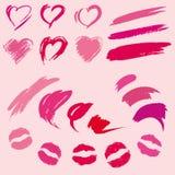 Set Lippenstiftdrucke Lizenzfreies Stockbild
