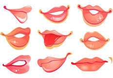 Set of lips Stock Image
