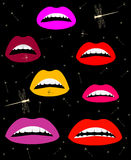 Set lips color Royalty Free Stock Images