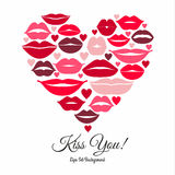 Set of lips. Flat icons. Royalty Free Stock Images