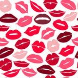 Set of lips. Flat icons. Royalty Free Stock Photos