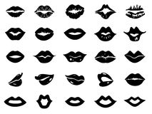 Set of lips icon Royalty Free Stock Photography