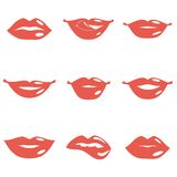 Set of Lips Stock Photography