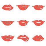 Set of lips Stock Images
