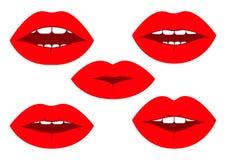 Set of lips. Vector illustration royalty free illustration