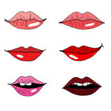 Set of lips Royalty Free Stock Images