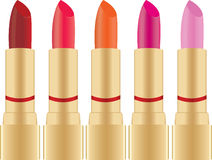 Set of lipstick. Collections of color lipstick for makeup Stock Photos