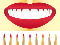 Set of lipstick Royalty Free Stock Images