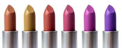 Set of lipstick isolated on white background stock photo