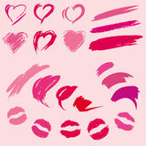 Set of lipstick prints Royalty Free Stock Image