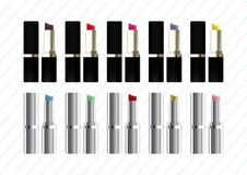 Set of lipstick vector object Stock Images