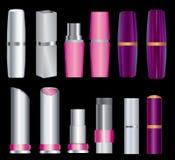 Set of  lipsticks. Big set of make-up packages Stock Photo