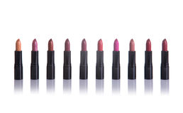 Set of lipsticks in fashionable colors Royalty Free Stock Photography