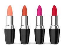 Set of lipsticks. Four different colours Royalty Free Stock Image